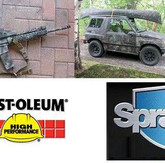 Krylon camouflage aerosolimaalit&Sprayon