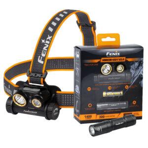 Fenix HM65R Otsalamppu + E01 Minivalaisin paketti